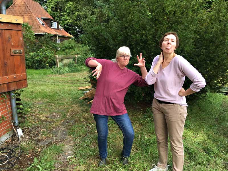 Beim Nichtstun erwischt, Bianca und Beate - KUNST-stückchen 2017